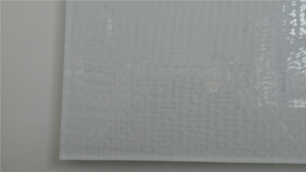 produkt detail fabric auf weissglas 8 mm lackiert wei ral9003. Black Bedroom Furniture Sets. Home Design Ideas
