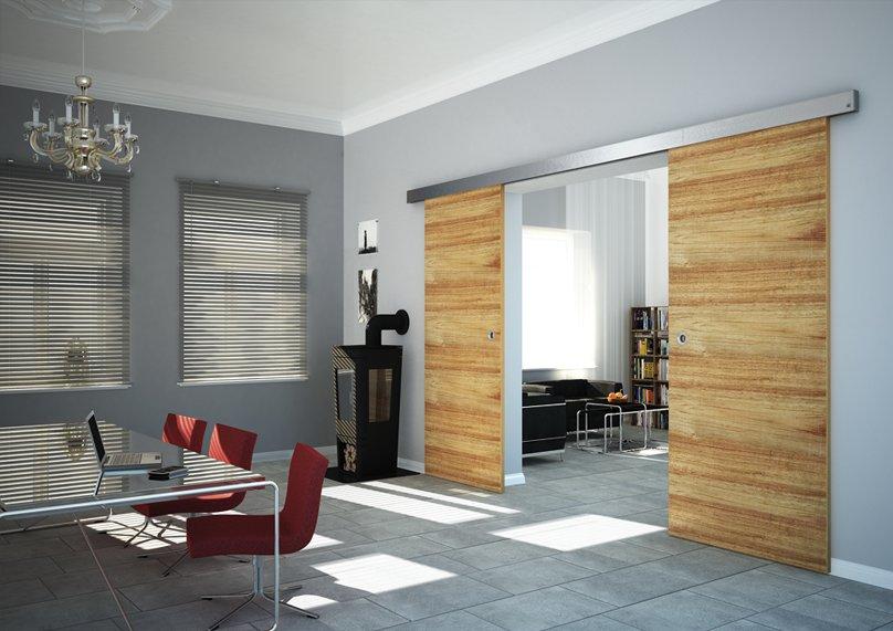 produkt detail schiebet r mit dorma rs120 deckenmontage. Black Bedroom Furniture Sets. Home Design Ideas